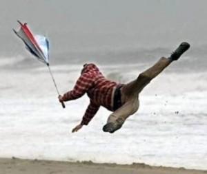 強風で飛ばされた2