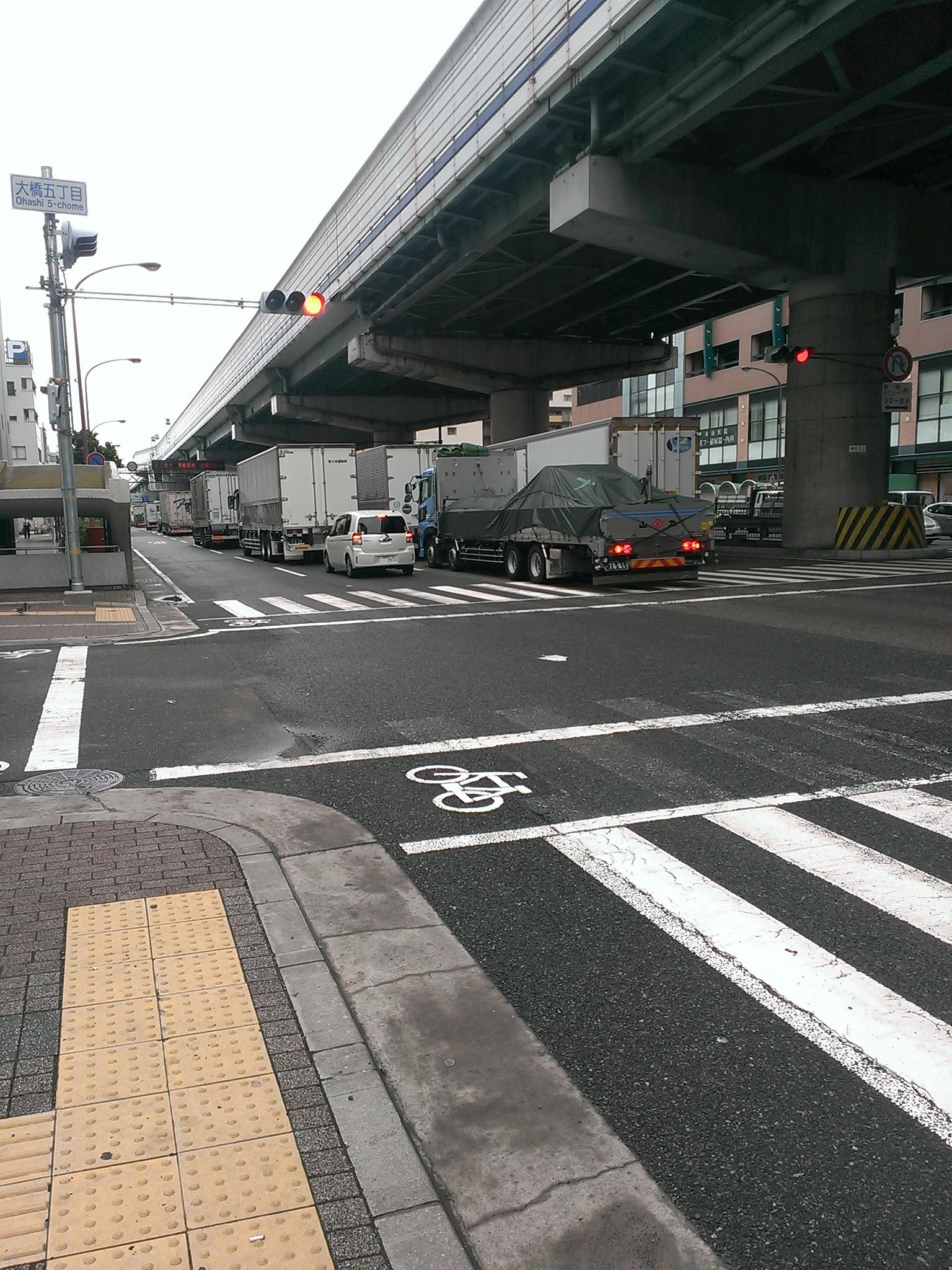 国道二号線は大渋滞(゚Д゚)